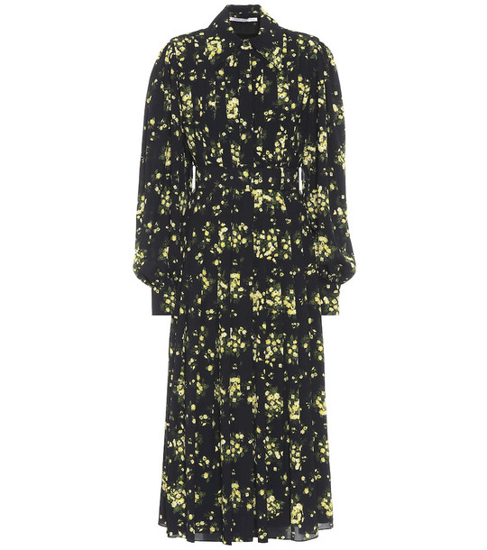 Emilia Wickstead Anatola floral midi dress in black