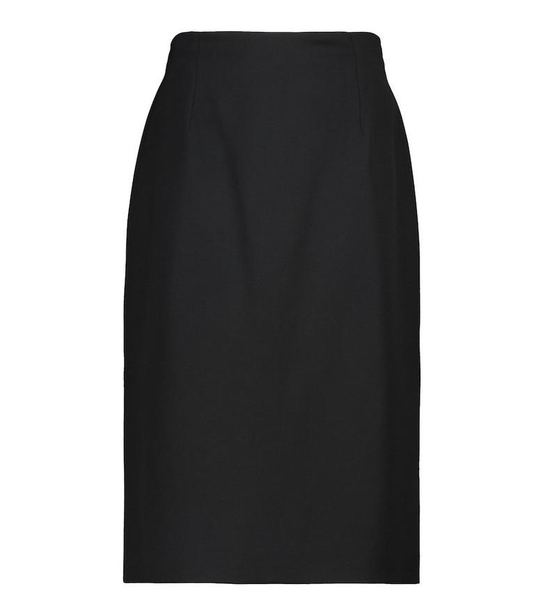 Alexander McQueen Virgin wool skirt in black
