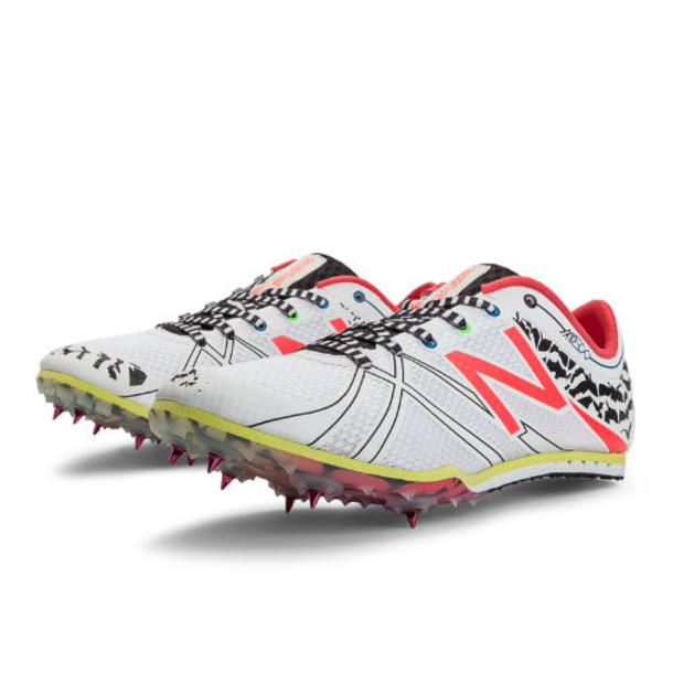 New Balance MD500v3 Spike Women's Track Spikes Shoes - White, Diva Pink, Black (WMD500W3)