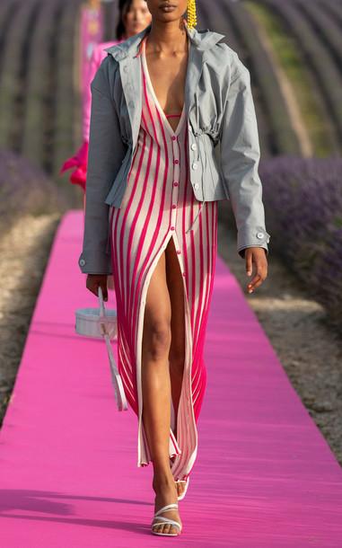 Jacquemus La Robe Jacques Striped Knit Maxi Dress