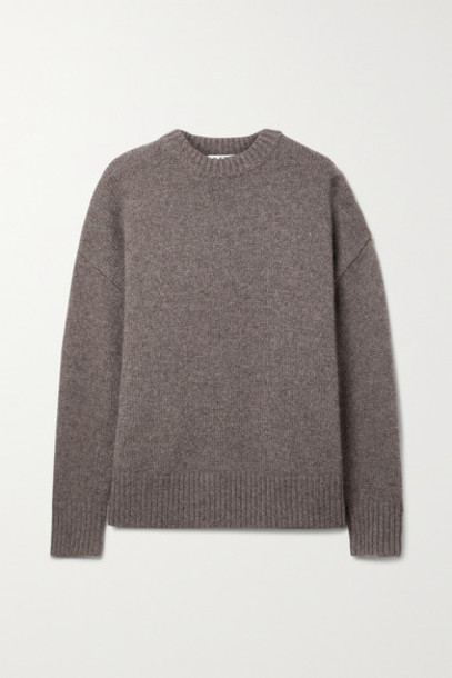 Co - Oversized Wool And Cashmere-blend Sweater - Brown
