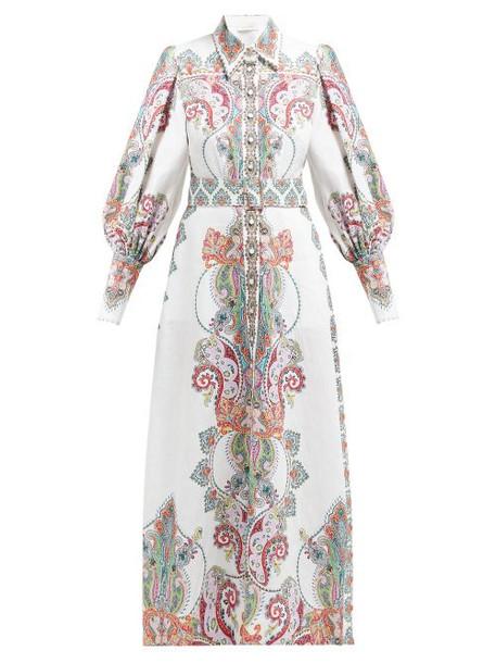 Zimmermann - Ninety Six Paisley Print Shirtdress - Womens - Pink Print