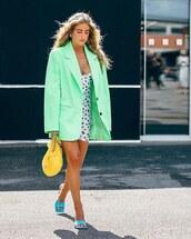 jacket,oversized,blazer,mini dress,white dress,sandal heels,bag
