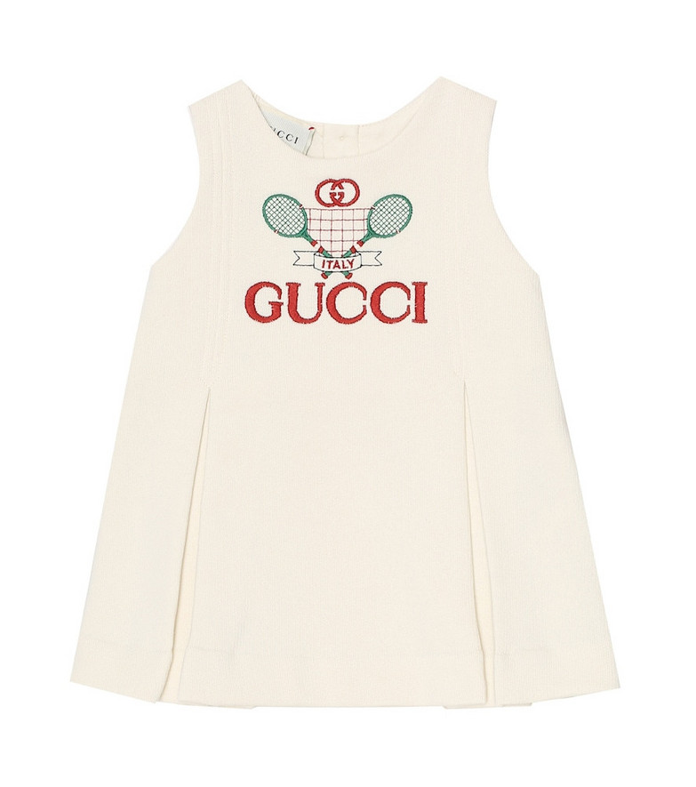 Gucci Kids Baby cotton dress in white