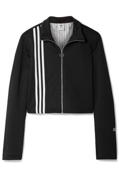 adidas Originals - Tlrd Striped Stretch-jersey Track Jacket - Black