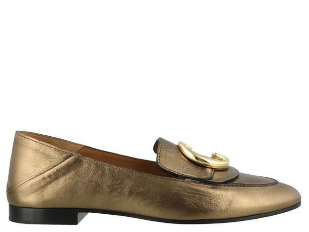 Chloé Chloé Mettalic Loafers Harvest Gold