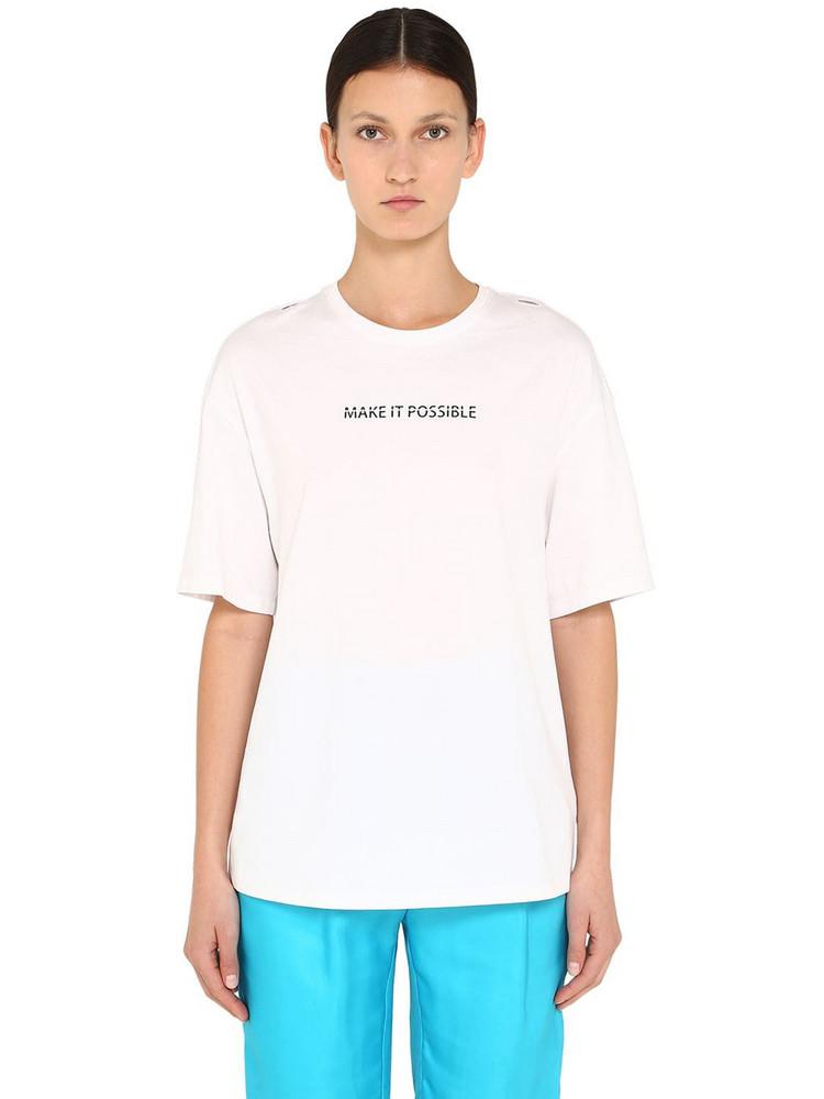 ANNAKIKI Huawei Headset Function Jersey T-shirt in white