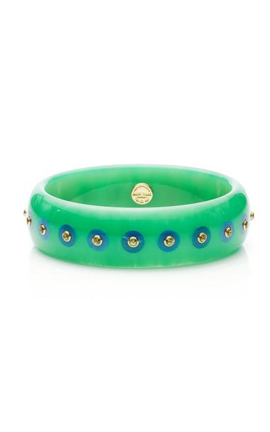 Mark Davis Dotty Bangle in green
