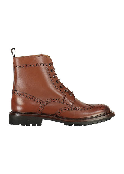 Church's Leather Lace-up Ankle Boots With Brogue in brown