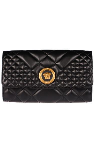Versace Quilted Shoulder Bag in nero