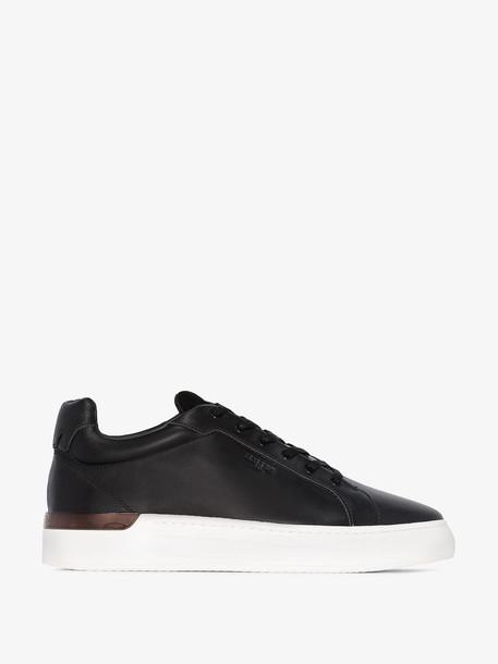 Mallet Footwear Black GRFTR Low Top Leather Sneakers