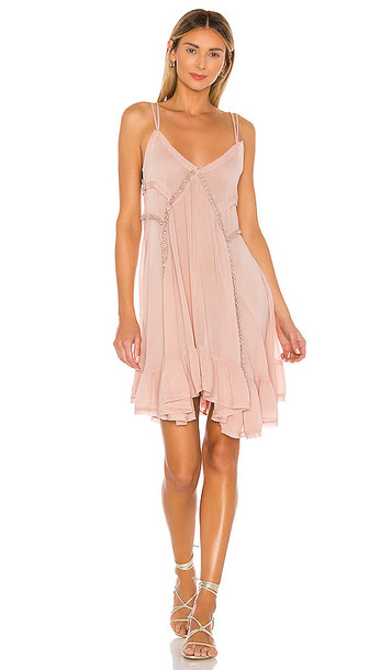 Free People Sway With Me Trapeze Dress in Blush in rose