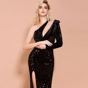 dress,vintage sequin dress gown