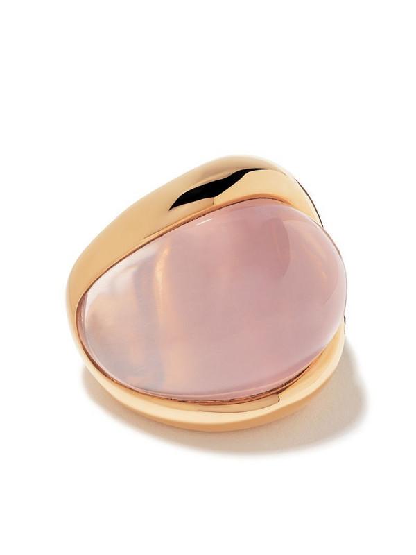De Grisogono 18kt rose gold pink quartz ring