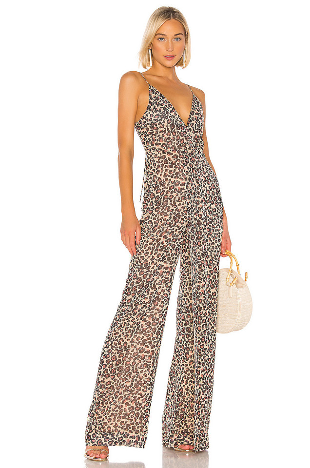 JONATHAN SIMKHAI Tie Back Jumpsuit in brown
