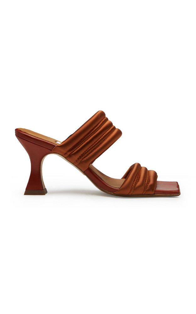 Miista Frostine Velvet Sandals in brown