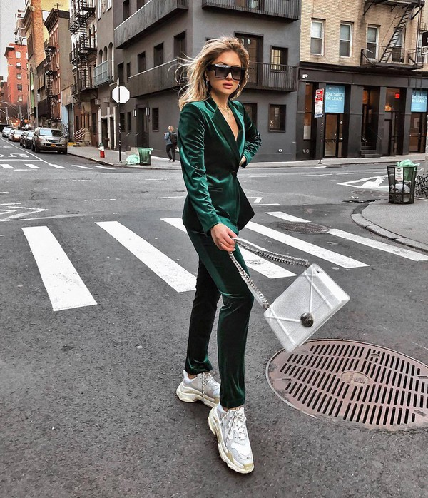 pants high waisted pants velvet balzer sneakers silver bag shoulder bag sunglasses