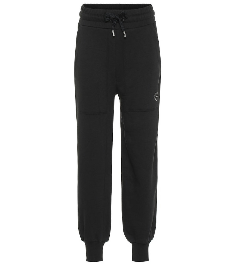 Adidas by Stella McCartney Cotton-blend sweatpants in blue