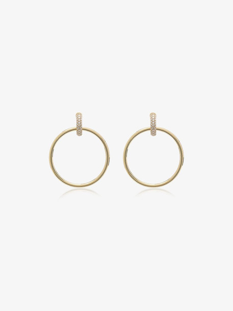 Spinelli Kilcollin yellow gold casseus huggie diamond hoop earrings
