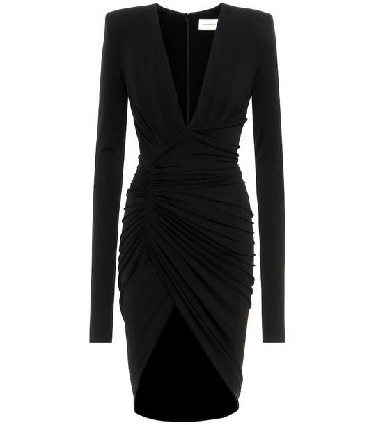 Alexandre Vauthier Long-sleeved stretch crêpe dress in black