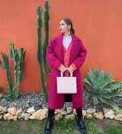 coat,pink coat