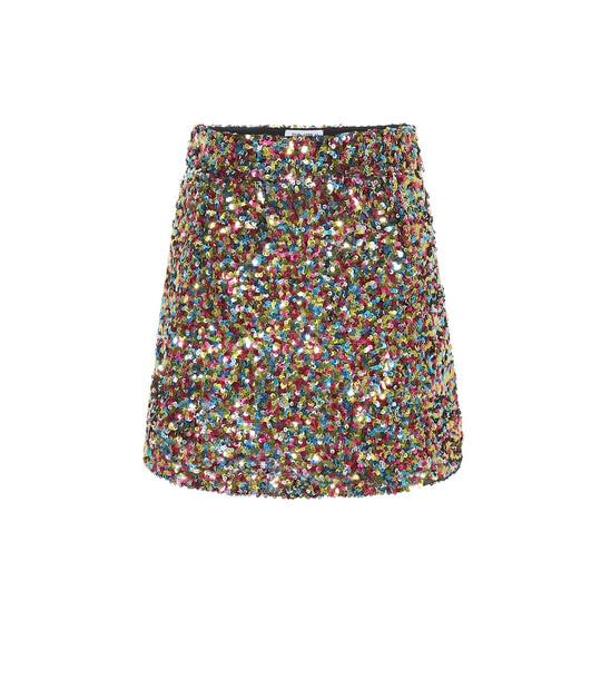 The Attico Sequinned miniskirt