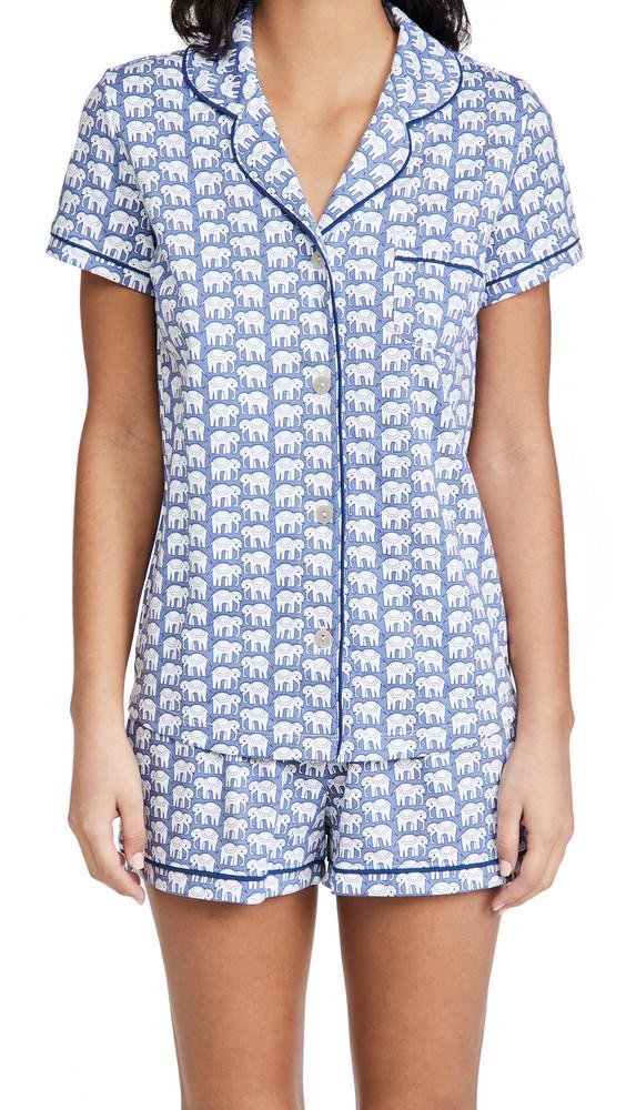Roller Rabbit Hathi Polo Pajama Set in blue