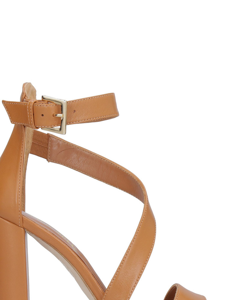 Paris Texas Leather Sandals in brown