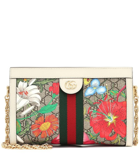 Gucci Exclusive to Mytheresa – Ophidia GG Flora shoulder bag in beige