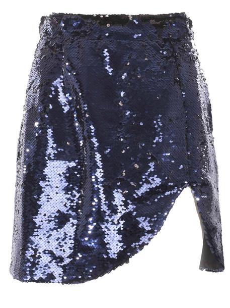 Amen Sequined Mini Skirt in nero