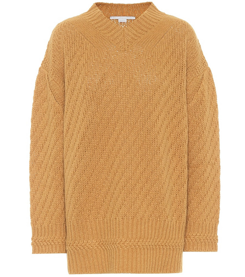 Stella McCartney Alpaca-blend sweater in brown