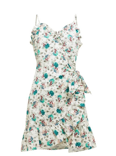 Rebecca Taylor - Carnation Print Linen And Cotton Blend Mini Dress - Womens - Green Multi