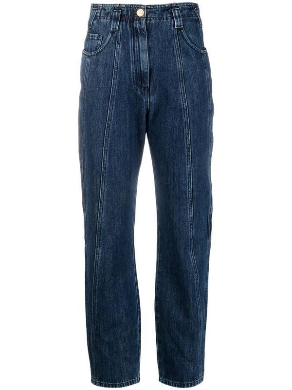 Alberta Ferretti high-rise straight jeans in blue