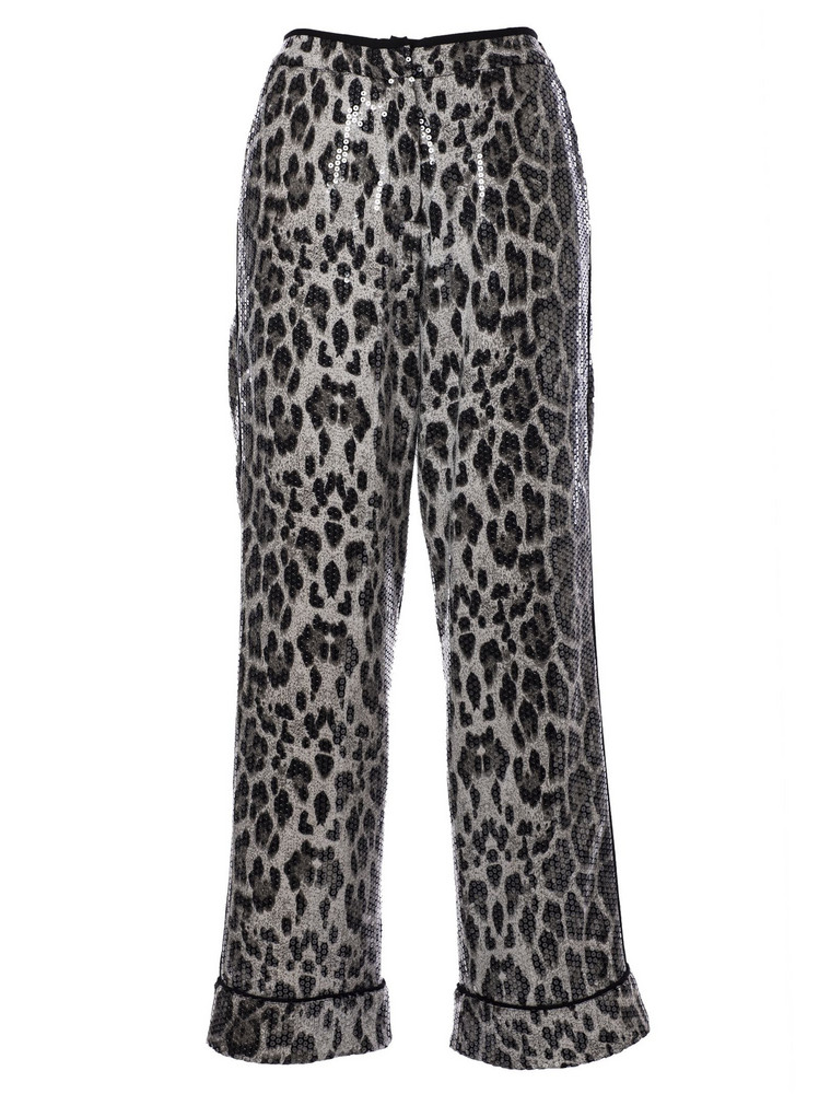 In The Mood For Love Sequin Embellished Trousers in grey