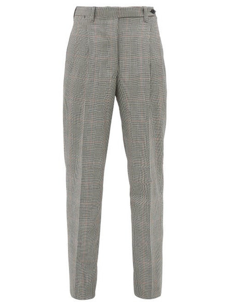Giuliva Heritage Collection - The Cornelia Checked Wool Trousers - Womens - Grey Multi