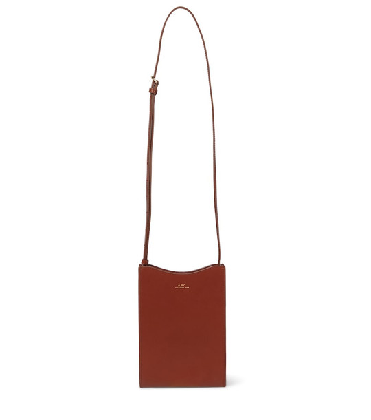 A.P.C. Jamie leather crossbody bag in brown