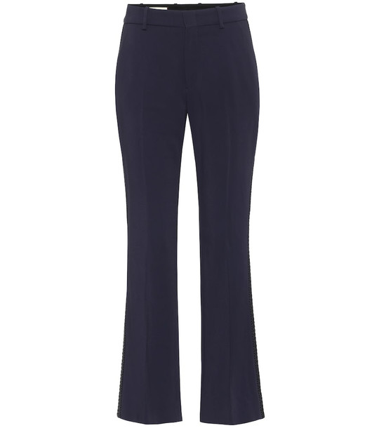 Gucci Stretch-cady flared pants in blue