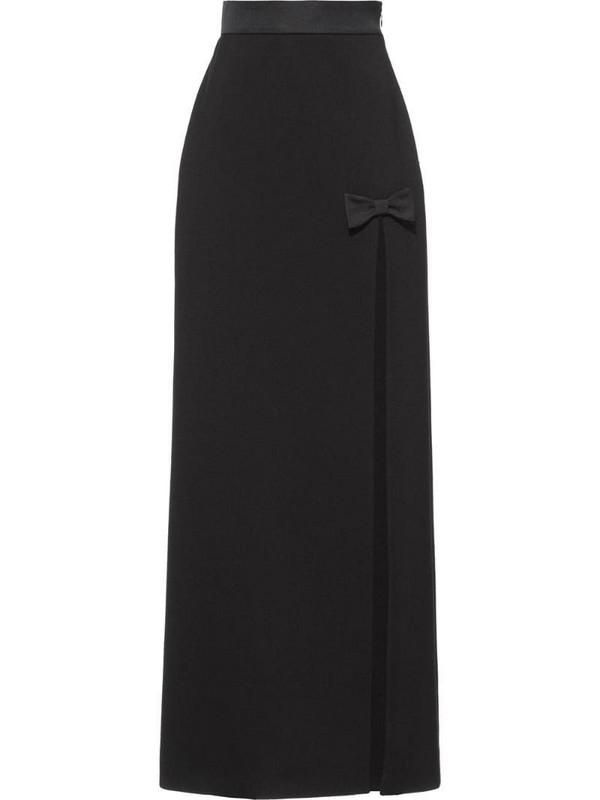 Miu Miu grain de poudre skirt in black