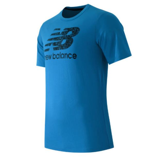 New Balance 53511 Men's Short Sleeve Logo Tee - Bolt, Black (MT53511BOK)