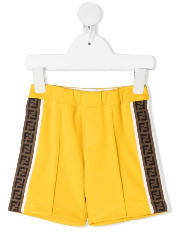 Fendi Kids FF-logo jersey shorts