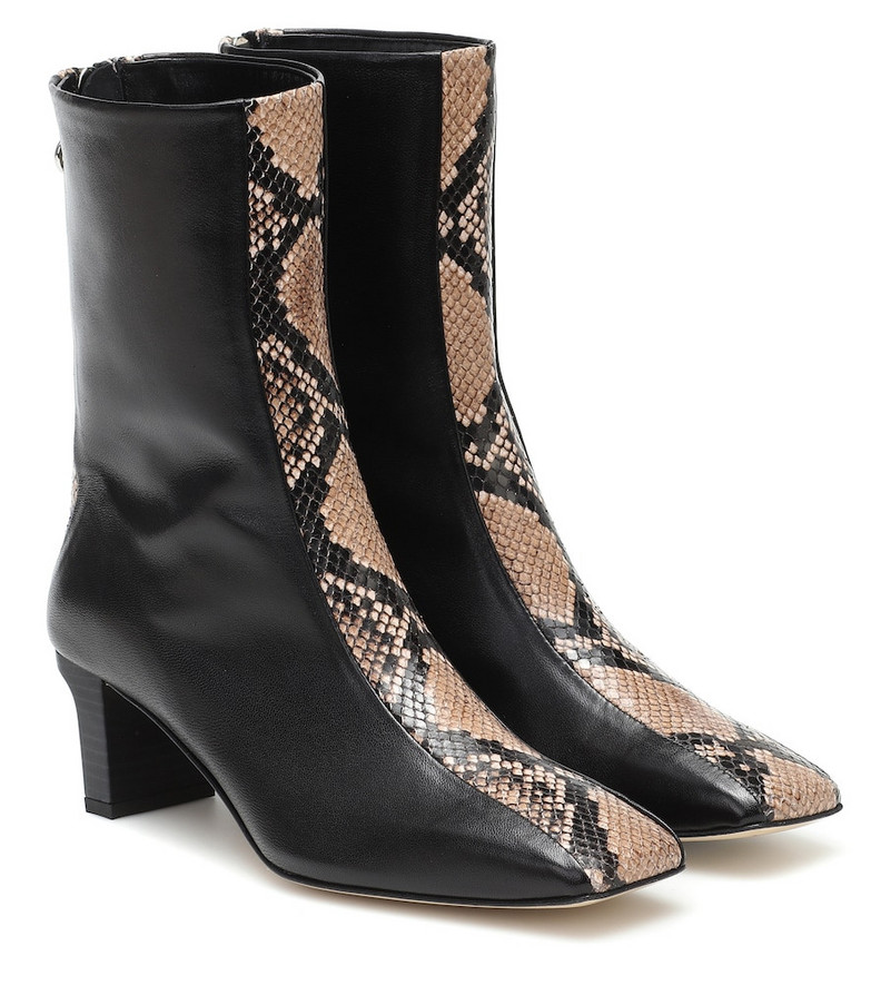 Aeydē Molly leather ankle boots in black