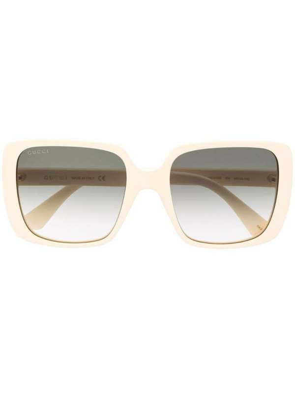 Gucci Eyewear square-frame sunglasses in white