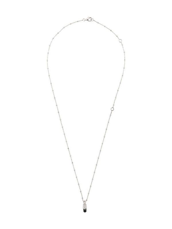 Kasun London bullet pendant necklace in silver