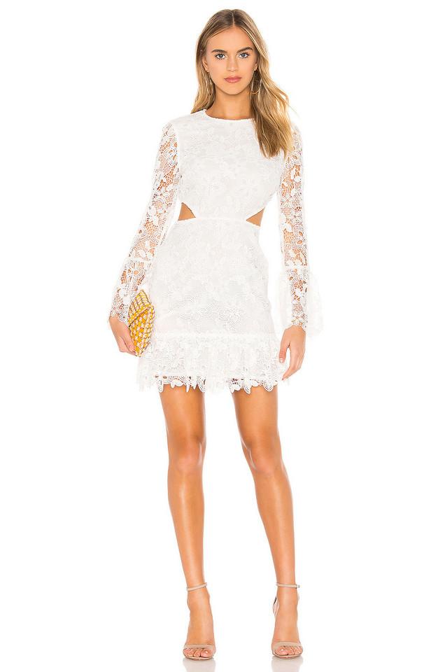 RACHEL ZOE Isabel Dress in white