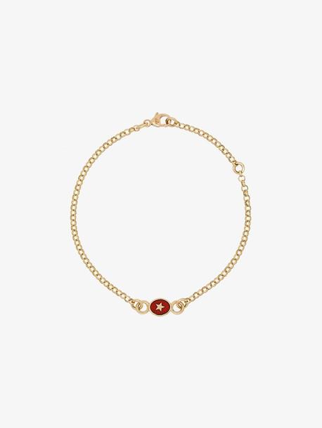 Foundrae 18K yellow gold Strength star pendant bracelet