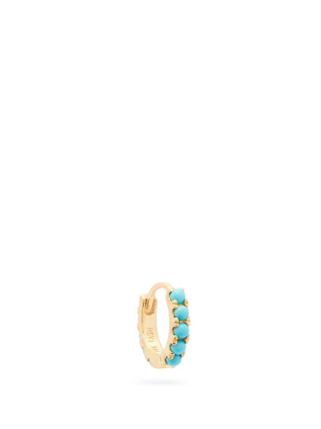 Maria Tash - Eternity Turquoise & 18kt Gold Single Earring - Womens - Yellow Gold