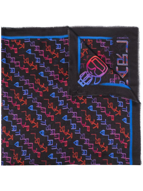Karl Lagerfeld K/Tetris Scarf in black