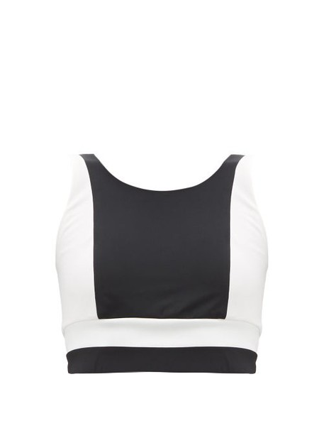 Vaara - Poppy Cropped Top - Womens - Black/white