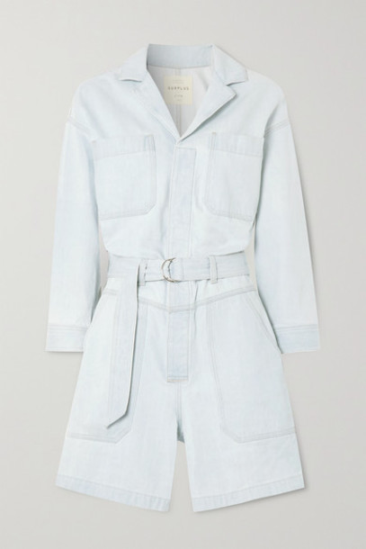 Citizens of Humanity - Space For Giants Lucia Belted Organic Denim Playsuit - Blue