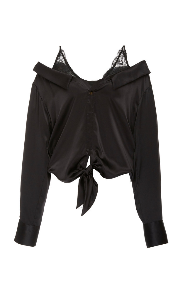 Hellessy Fontana Silk Blouse in black
